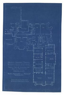 Sketch plan of quarters for Dean of Residence, second floor
