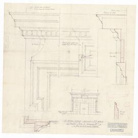 "Mantel & trim in drawing room, #111. - 1"" = 1'-0"" and full scale (343)"