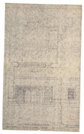 "New Chapel: north elevation of vestry. - scale 1/2"" = 1'-0"". - undated [1952] (149-21)"