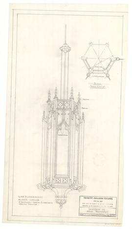 Lantern in west transept. - 18 February 1955 [pencil on tissue] (228)