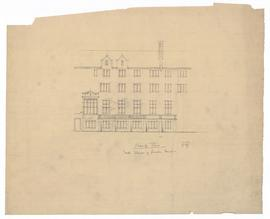 Elevation - north elevation of founders' quad