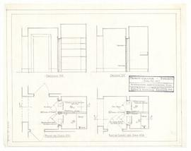 Plans of closet off corridor 224, and 331. - 26 April 1961 (48)
