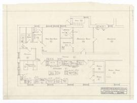 "Revised kitchen layout. - scale 1/4"" = 1'-0"". - 20 August 1937"