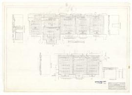 Reflected ceiling plans in administrative offices, first floor. - 18 January 1961. - rev. 12 July...