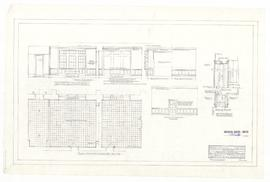 Revised detail of Rhodes Room 101 and Common Room 103. - 7 December 1960. - rev. 18 January 1961 ...