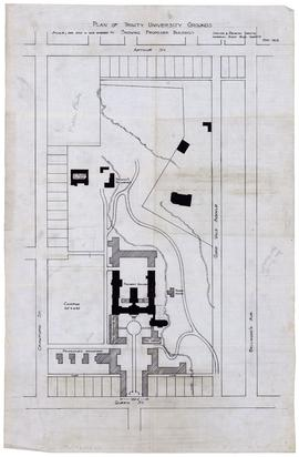 Plan of Trinity University Grounds Showing Proposed Buildings