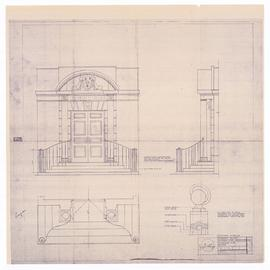 Elevations, plan section. - rev. February 17, 1989 (P1)