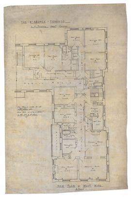 New plan of west wing