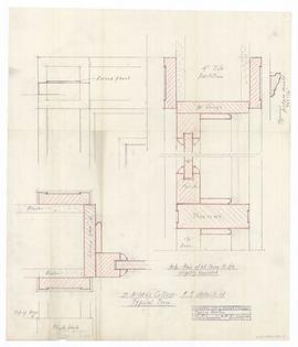 "Mantel & trim in drawing room, #111. - 1"" = 1'-0"" and full scale (346)"