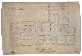 First floor plan of west wing