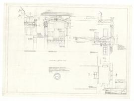 Explanatory drawing don's study - showing floor framing, stonework, etc. - 13 July 1962 (A-7x)
