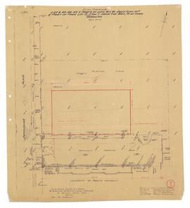 Plan Showing [Trinity College Property] Lots 43-44-45 & parts of Lots 42 & 46 - Regd Plan...