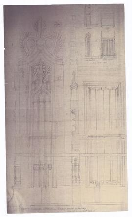 Design for kneelers in sanctuary (149-46a)