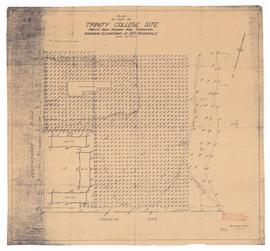 Plan of Part of Trinity College Site, North Side Hoskin Ave. Toronto, Showing Elevations