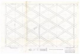 Layout of leaded glazing. - 7 April 1954 (334A)
