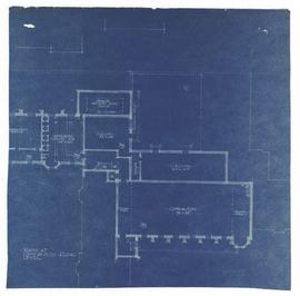 Plan at gymnasium floor level, 32 x 32.5 cm (C)