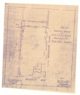 Sketch showing Survey of Lots 1, 2, 3, 7, 8, and Part of Lot 9, Plan 101E