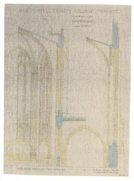 New Chapel: section through chancel & side Chapel, showing apse; section through transept showing arch to side Chapel (149-11)