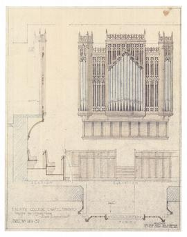New Chapel: design for organ case (two copies) (149-37)