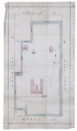 Plan of University of Trinity College Grounds