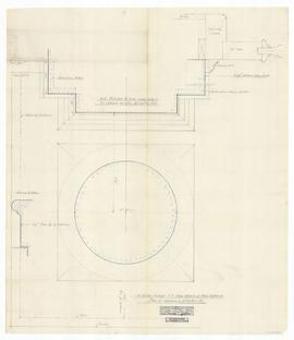 Main entrance - plan of columns and pilasters. - full scale. (315)