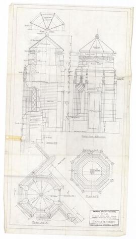Details of turret. - 12 March 1954 [pencil on tissue] (216)