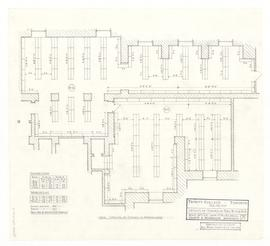 Layout of stacks in Rooms B12 & B13. - 17 November 1960 (27A)
