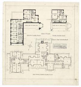 Plan of student's rooms, main block and west wing (130)