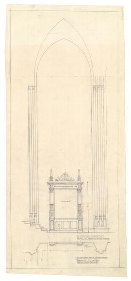 Drawing of Proposed War Memorial