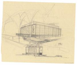 Preliminary plans, Academic Building, Trinity College