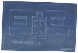 "Sketch showing proposed position of Memorial boards in foyer. - scale 1/2"" = 1'0"". - 6 ..."