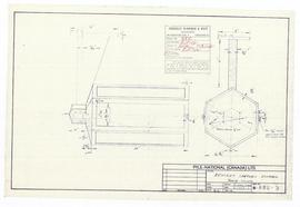 Bracket lantern drawing. - 19 August 1961 (B-3)