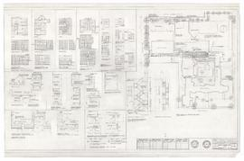 Site plan, room layouts and misc. details (A-15)