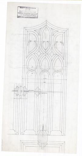 Proposed alteration to 4 lights in inner doors to east porch. - 14 December 1955 (354)
