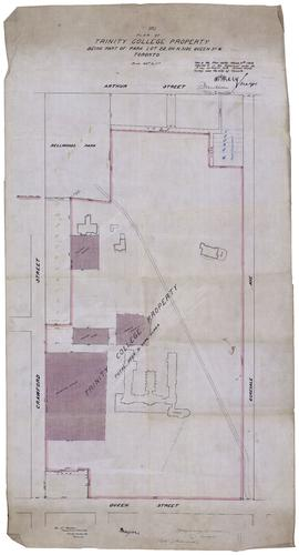 Plan of Trinity College Property Being Part of Park Lot 22