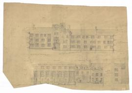 Elevation - south elevation of north side of north quad