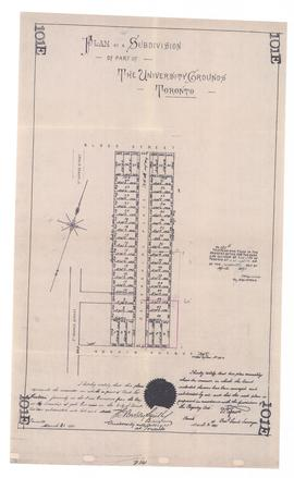 Plan of a Subdivision of part of The University Ground (101E)