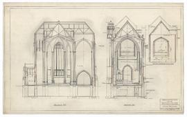 Cross Sections, section thro' gallery, added 8 January 1954 (109)
