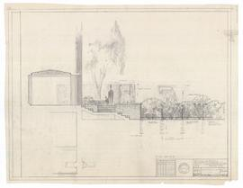 Design for fence, study drawing no. 3, service yard. - 20 May 1960
