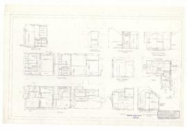 Alterations - main block, detail of washrooms 310, 315, 413 and 421, and kitchenettes 311 and 316...