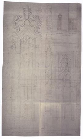 Design for kneelers in sanctuary (149-46)