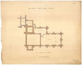 Plan of foundations and basement