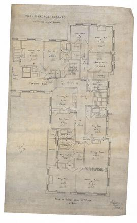 Plan of west wing sixth floor