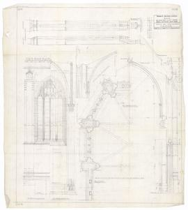 Normal Bay - apse buttress, plan of apse. - December 1952 [pencil on tissue] (203)
