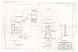 Details at entrance from 2nd floor corridor to gallery. - 13 May 1954 [pencil on tissue] (220)