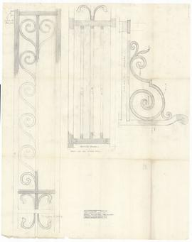 Wrought iron gate panels - tower archway (394)