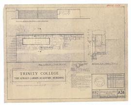 "Trinity College Academic Building, bronze plaque. - scale 1/2"" = 1'-0"", as shown. - 16 ..."