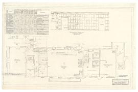 First floor plan, alterations to servery - 30 August 1960