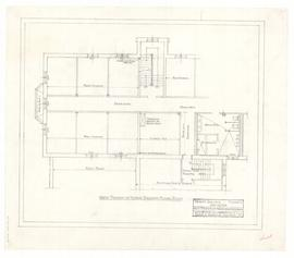West portion of north wing extension: west portion of future second floor plan. - 23 February 196...