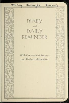 Personal Diary.